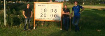 Neues Schild Ortsausgang Beckeln!